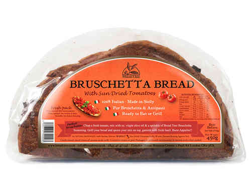Sicilian Bruschetta bread with Sun Dried Tomatoes 450g