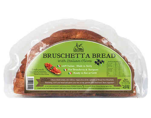 Sicilian Bruschetta bread with Olives 450g