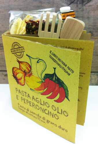 BOOK KIT for Aglio Olio E Peperoncino Pasta (with Recipe and Utensils and notes)